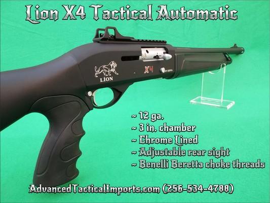 TACTICAL AUTO SHOTGUN (NEW) 12ga Lion X4 We Ship * - FFL ...