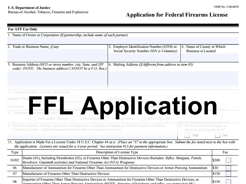 ATF FFL Application Process and Procedures