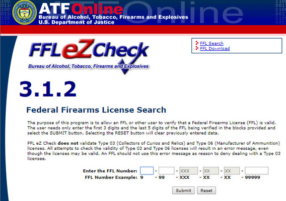 The FFL eZ Check System