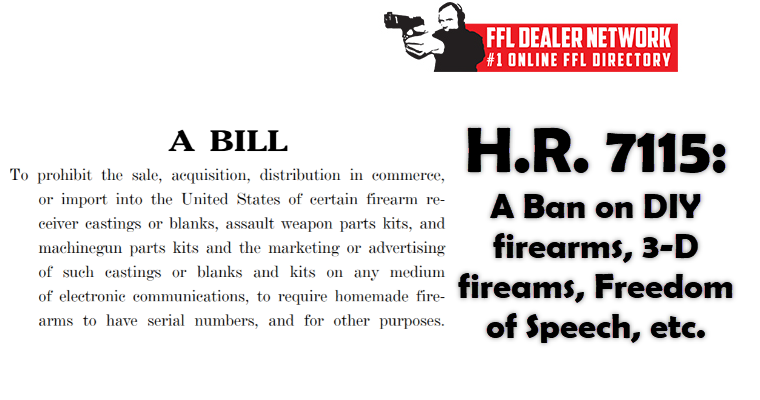 HR 7115 80 Percent Receiver Ban
